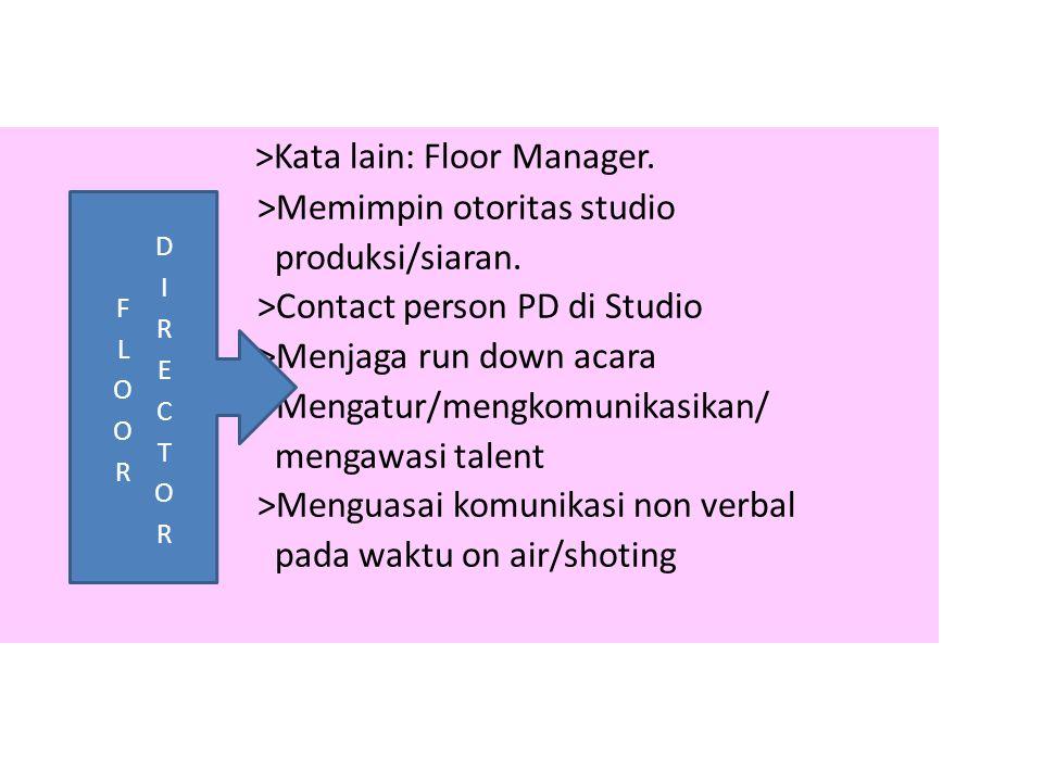 >Kata lain: Floor Manager.