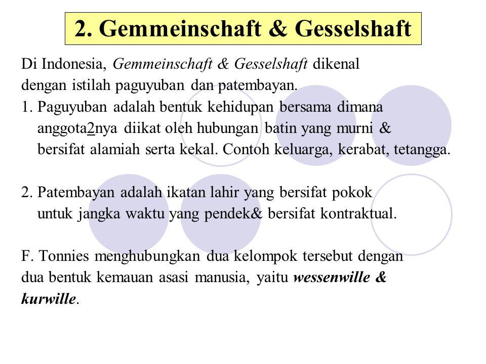 2. Gemmeinschaft & Gesselshaft