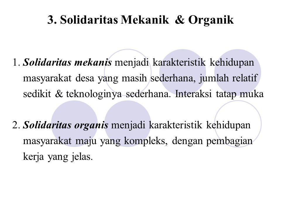 3. Solidaritas Mekanik & Organik