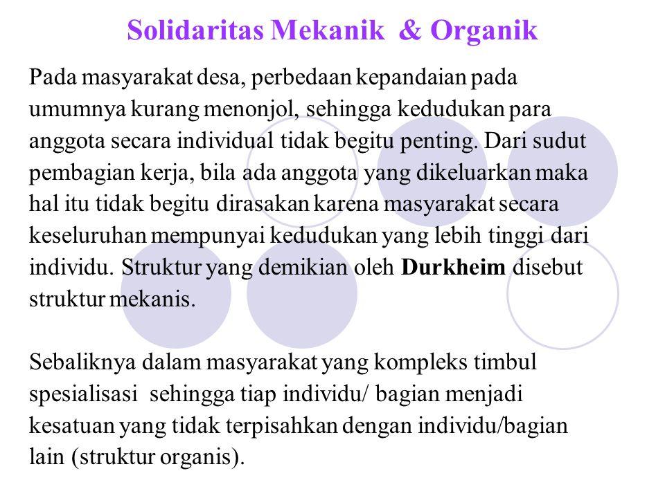 Solidaritas Mekanik & Organik