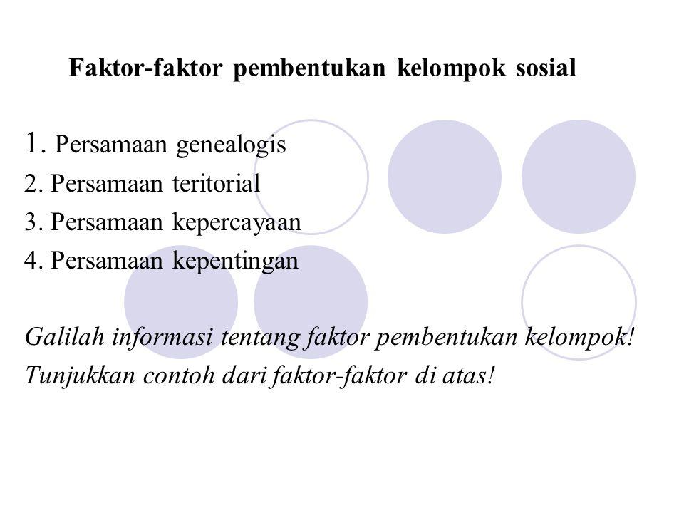Faktor-faktor pembentukan kelompok sosial