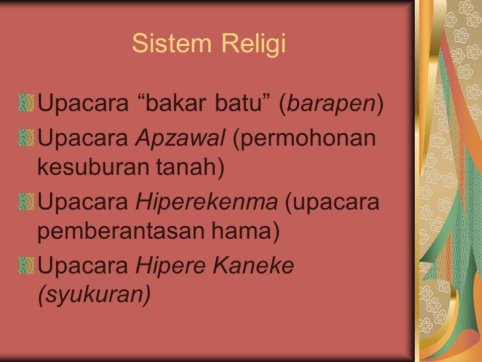 Sistem Religi Upacara bakar batu (barapen)
