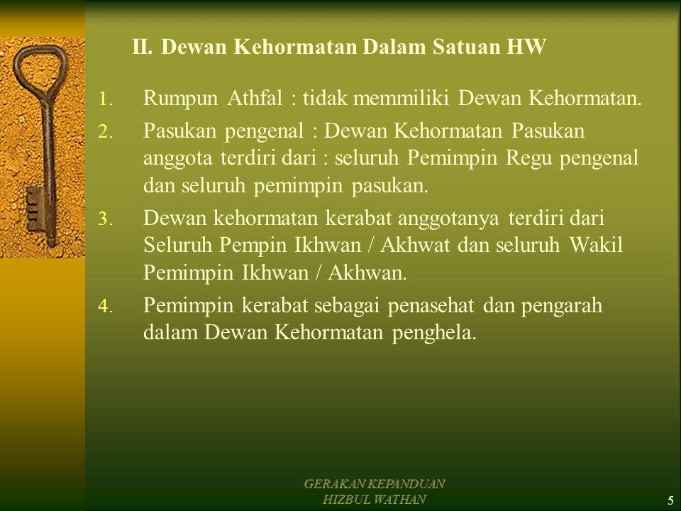II. Dewan Kehormatan Dalam Satuan HW