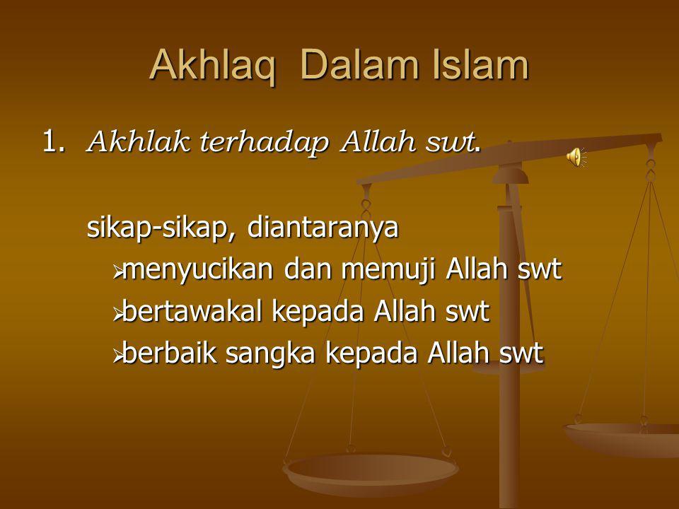 Akhlaq Dalam Islam 1. Akhlak terhadap Allah swt.