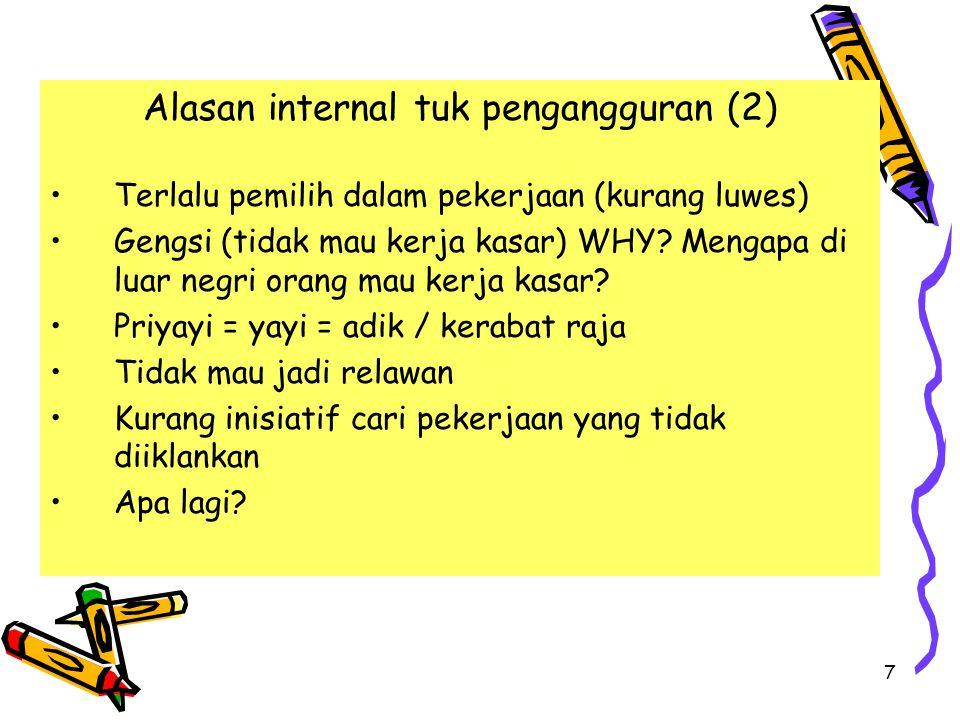 Alasan internal tuk pengangguran (2)