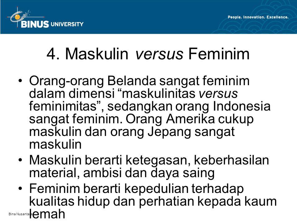 4. Maskulin versus Feminim