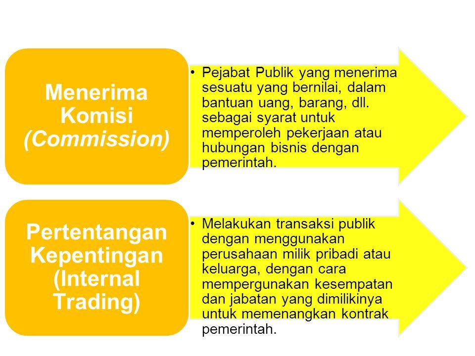 Menerima Komisi (Commission)