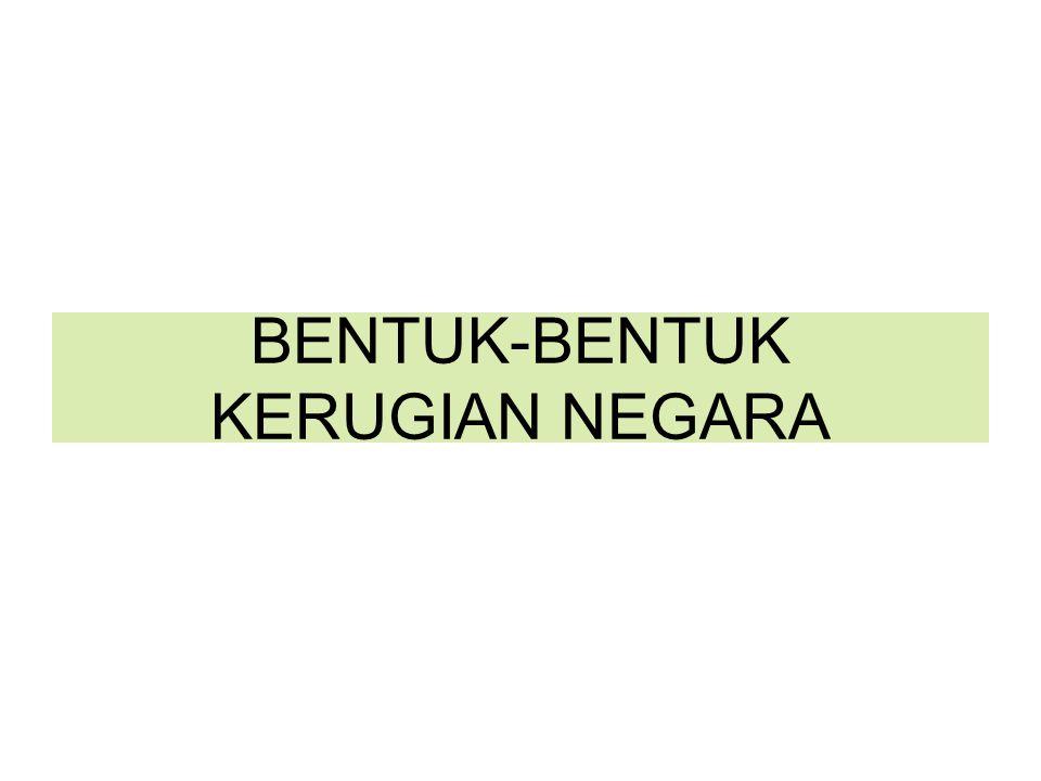 BENTUK-BENTUK KERUGIAN NEGARA