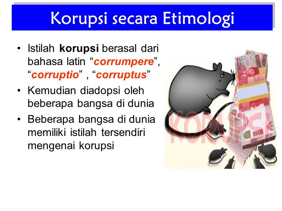 Korupsi secara Etimologi