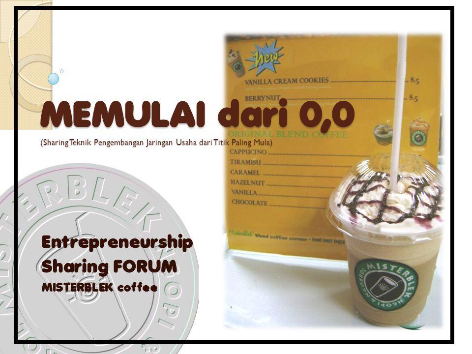Entrepreneurship Sharing FORUM MISTERBLEK coffee