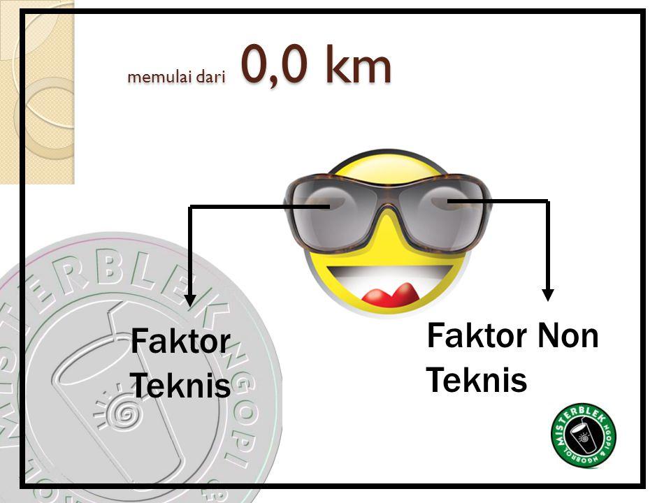memulai dari 0,0 km Faktor Non Teknis Faktor Teknis