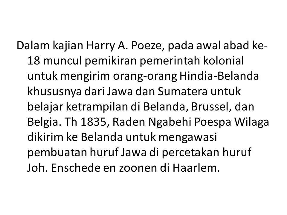 Dalam kajian Harry A.
