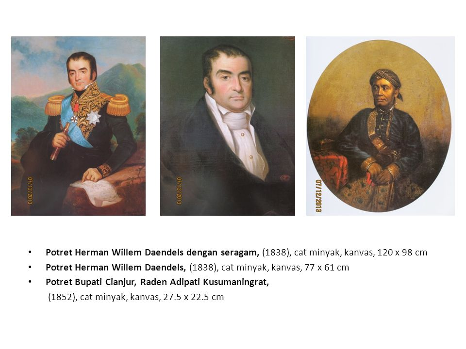 Potret Herman Willem Daendels dengan seragam, (1838), cat minyak, kanvas, 120 x 98 cm