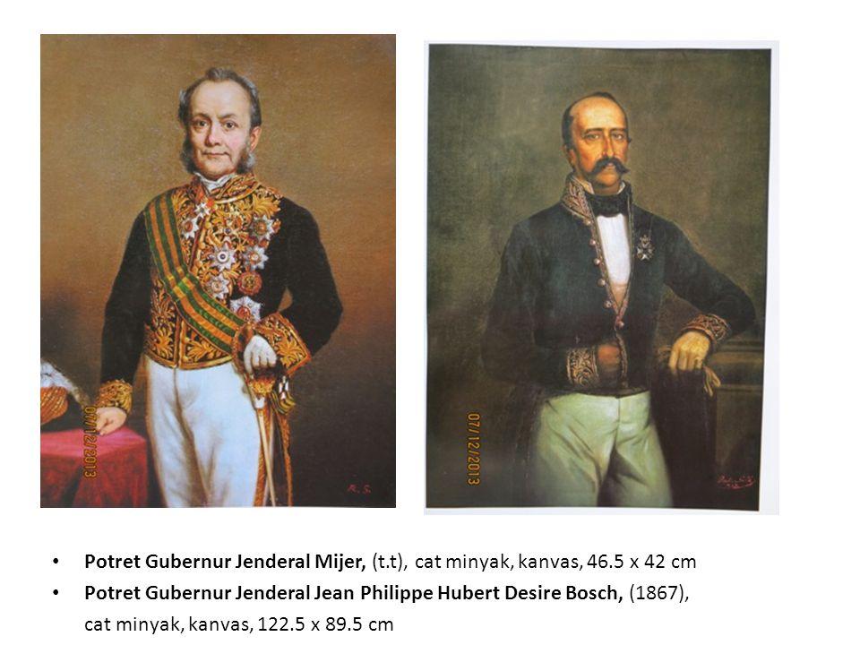 Potret Gubernur Jenderal Mijer, (t. t), cat minyak, kanvas, 46