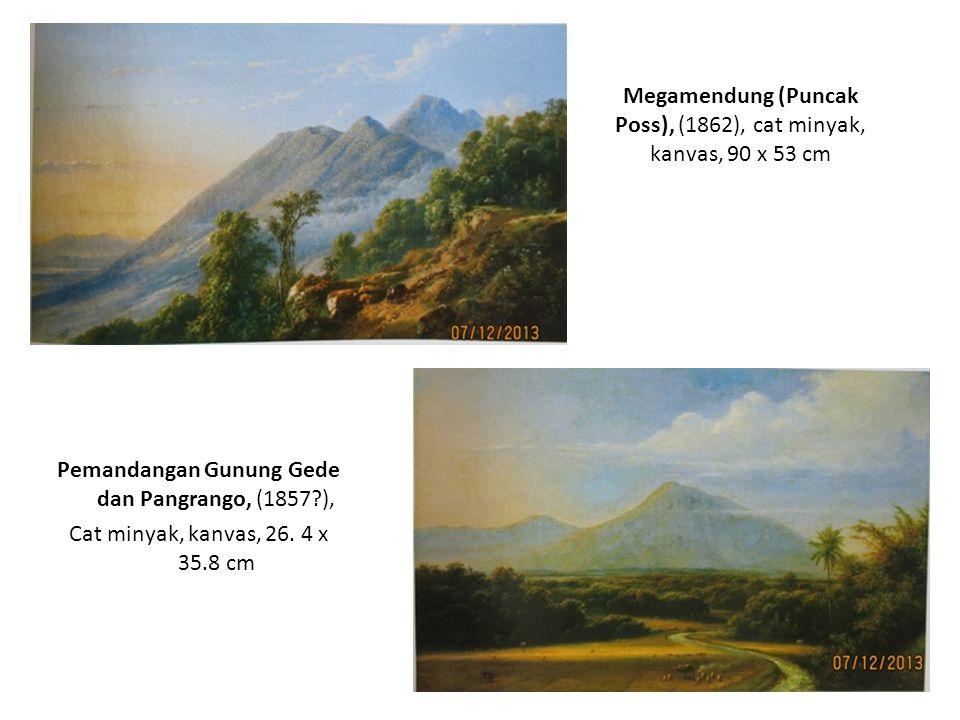 Megamendung (Puncak Poss), (1862), cat minyak, kanvas, 90 x 53 cm