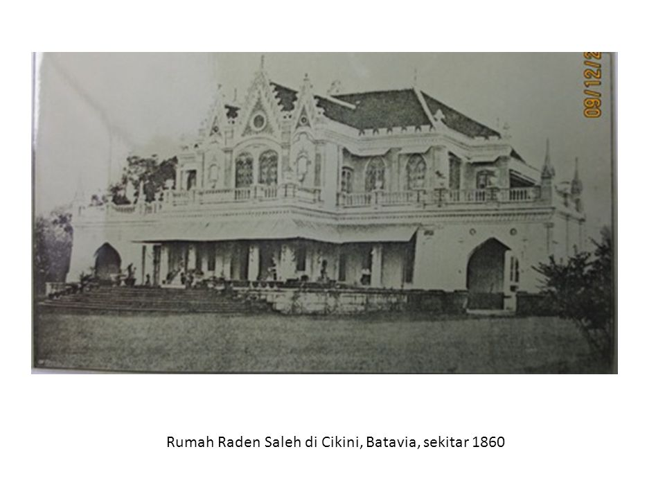 Rumah Raden Saleh di Cikini, Batavia, sekitar 1860