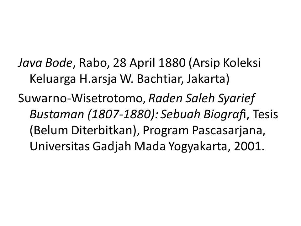 Java Bode, Rabo, 28 April 1880 (Arsip Koleksi Keluarga H. arsja W