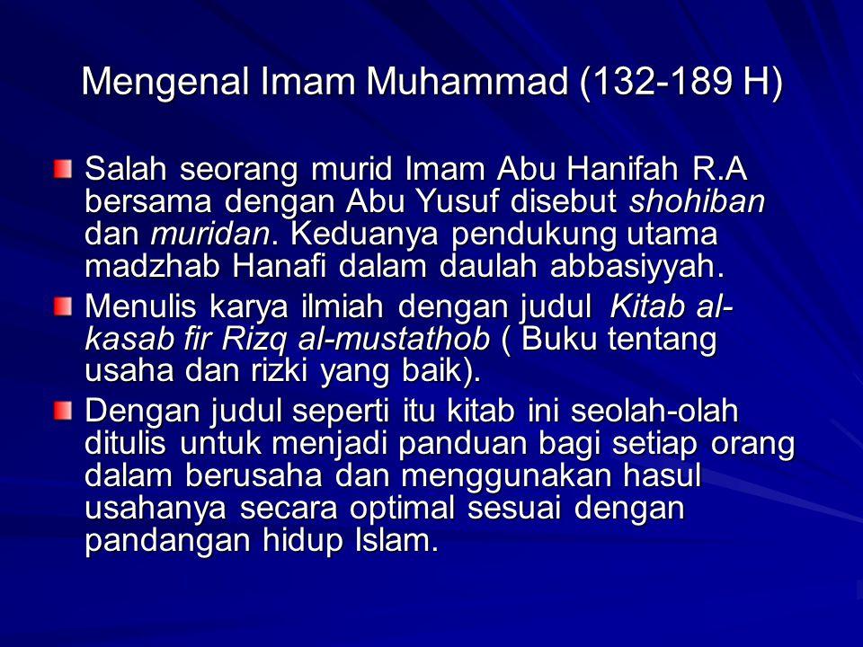 Mengenal Imam Muhammad (132-189 H)