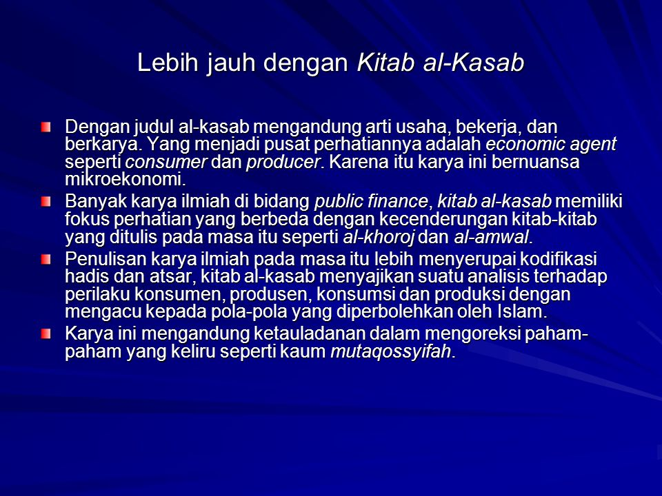 Lebih jauh dengan Kitab al-Kasab