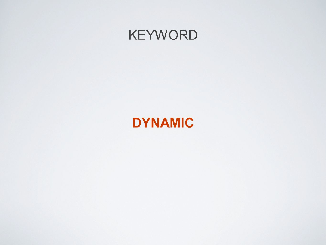 KEYWORD DYNAMIC