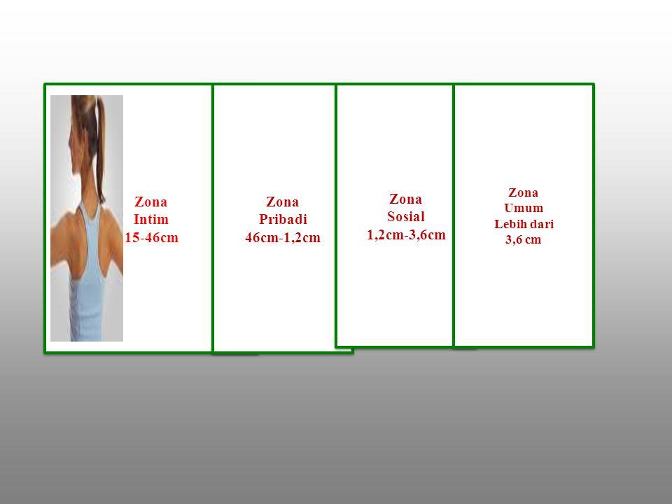 Zona Intim 15-46cm Zona Pribadi 46cm-1,2cm Zona Sosial 1,2cm-3,6cm