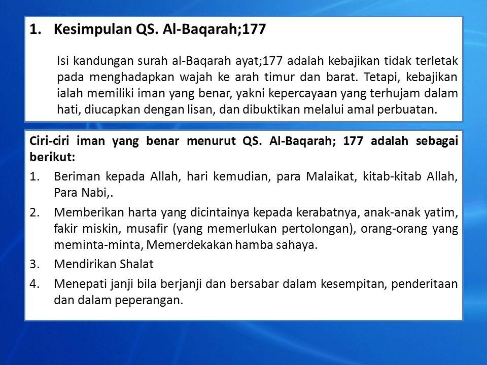 Kesimpulan QS. Al-Baqarah;177