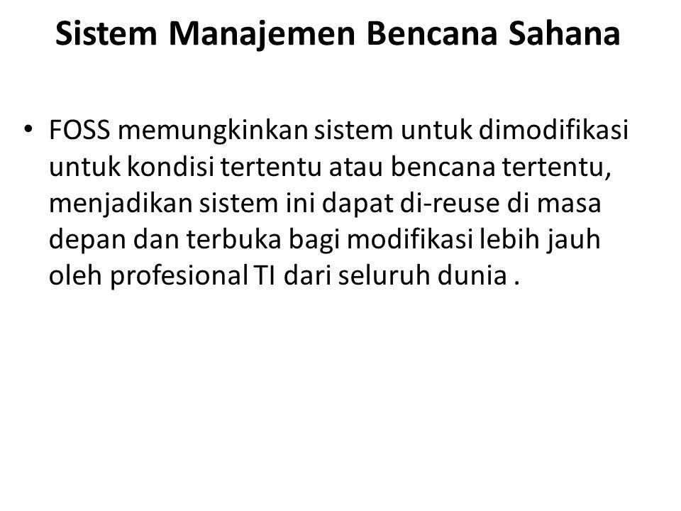 Sistem Manajemen Bencana Sahana