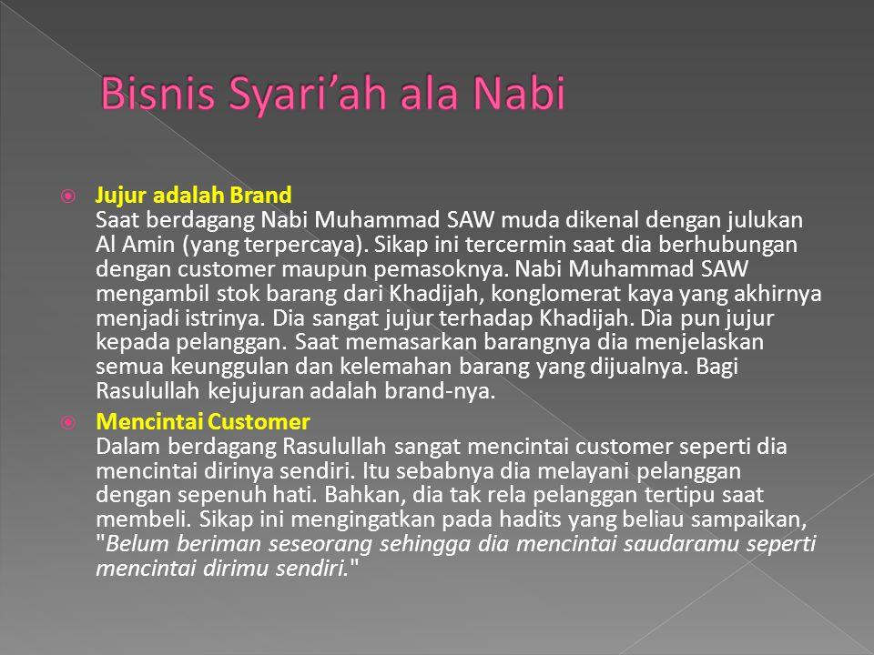 Bisnis Syari'ah ala Nabi