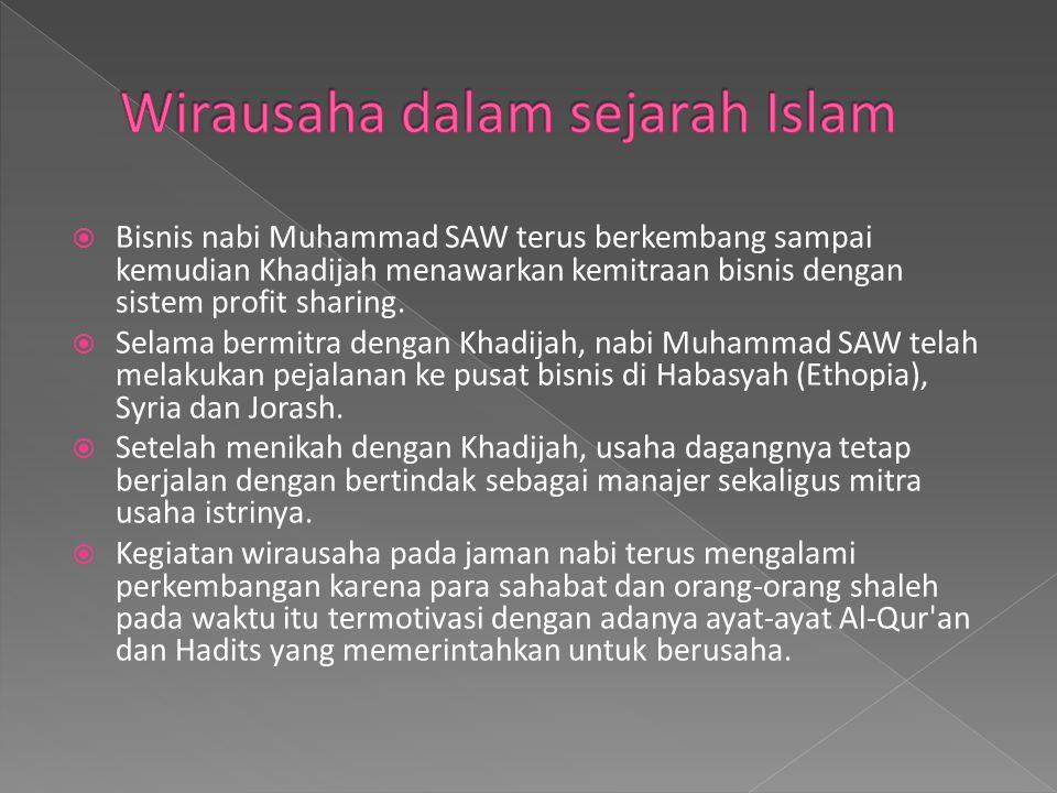 Wirausaha dalam sejarah Islam
