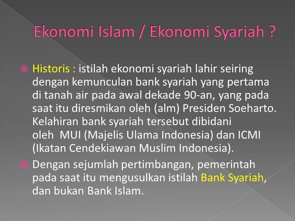 Ekonomi Islam / Ekonomi Syariah