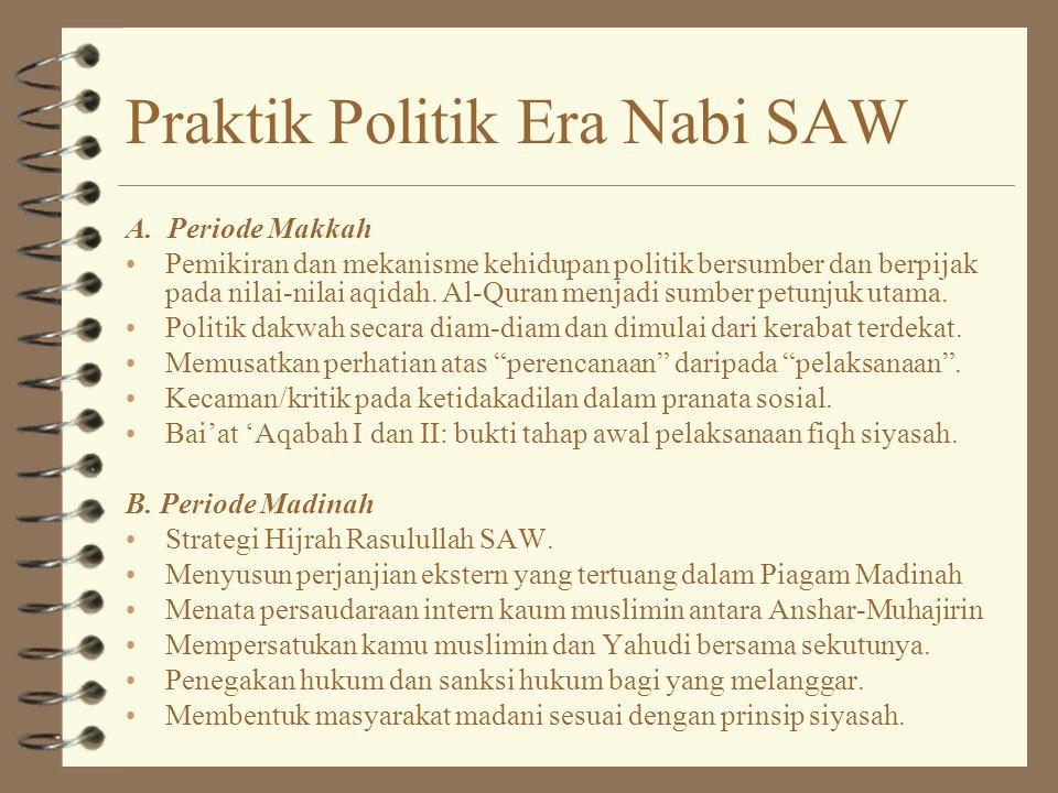 Praktik Politik Era Nabi SAW