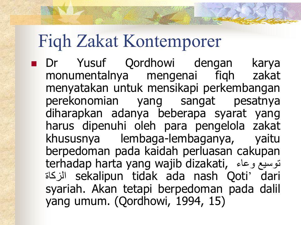 Fiqh Zakat Kontemporer