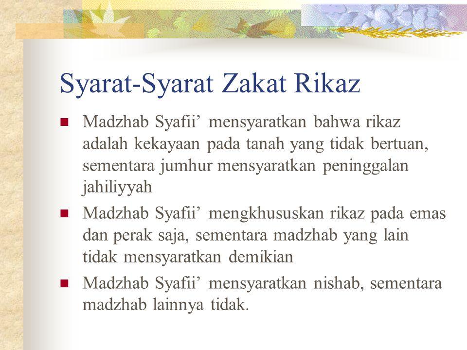 Syarat-Syarat Zakat Rikaz