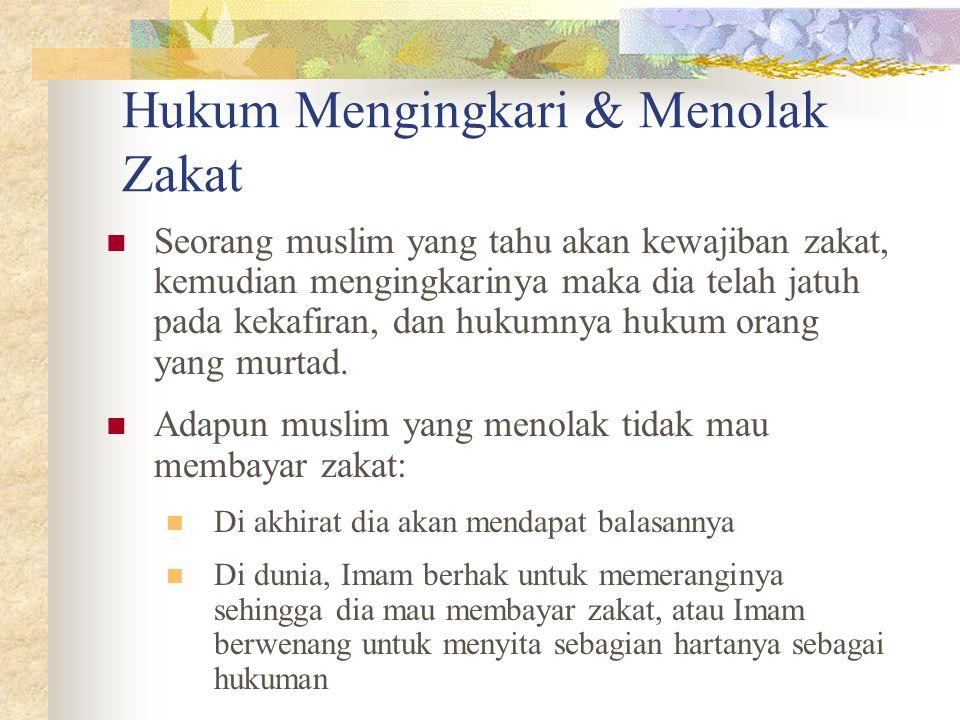 Hukum Mengingkari & Menolak Zakat