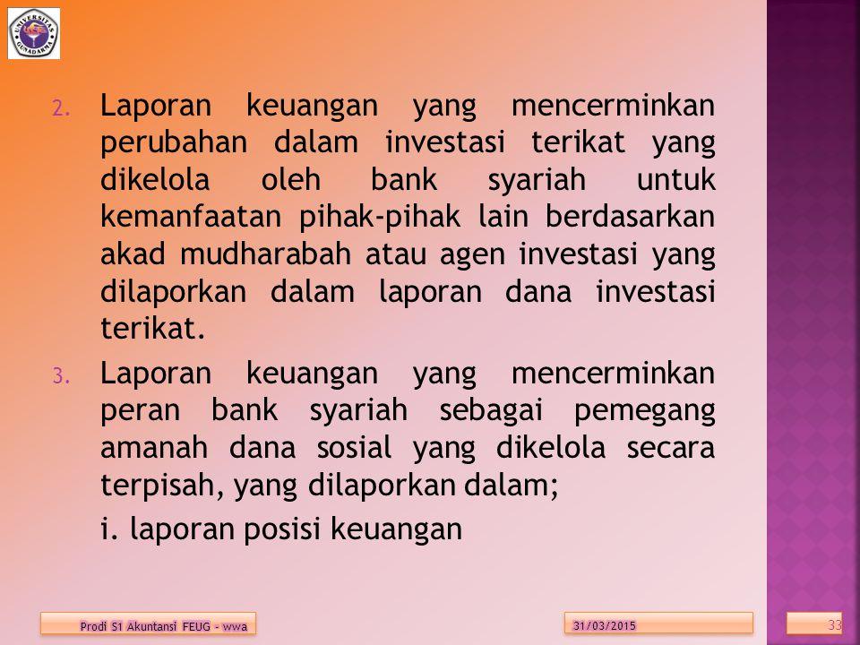 i. laporan posisi keuangan