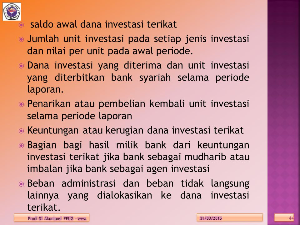 saldo awal dana investasi terikat