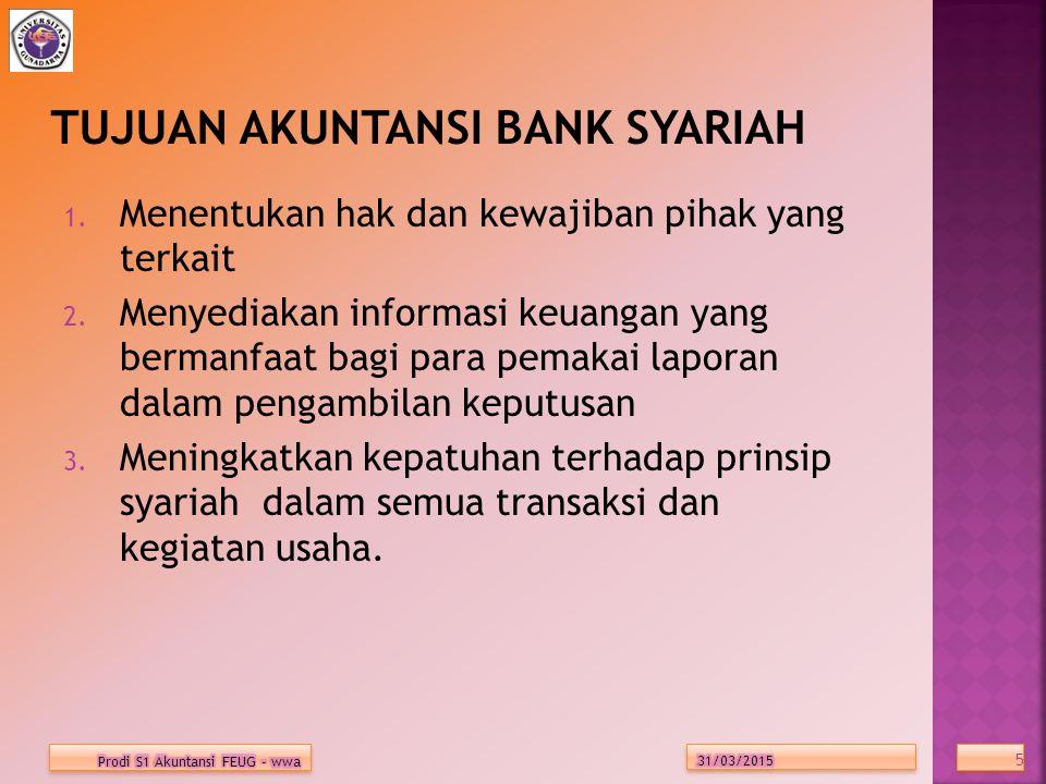 TUJUAN AKUNTANSI BANK SYARIAH