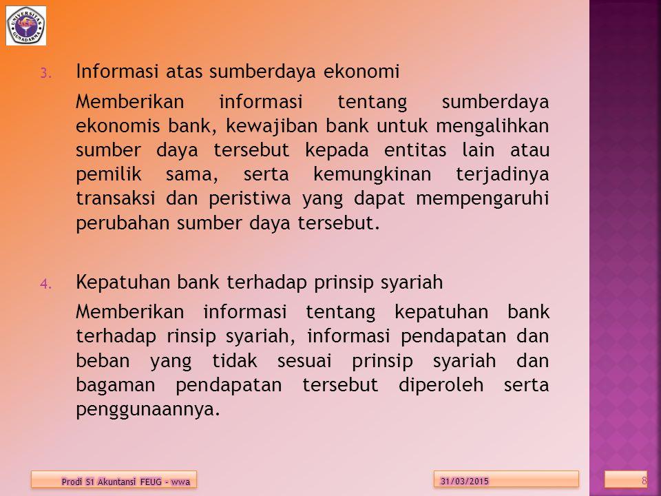 Informasi atas sumberdaya ekonomi
