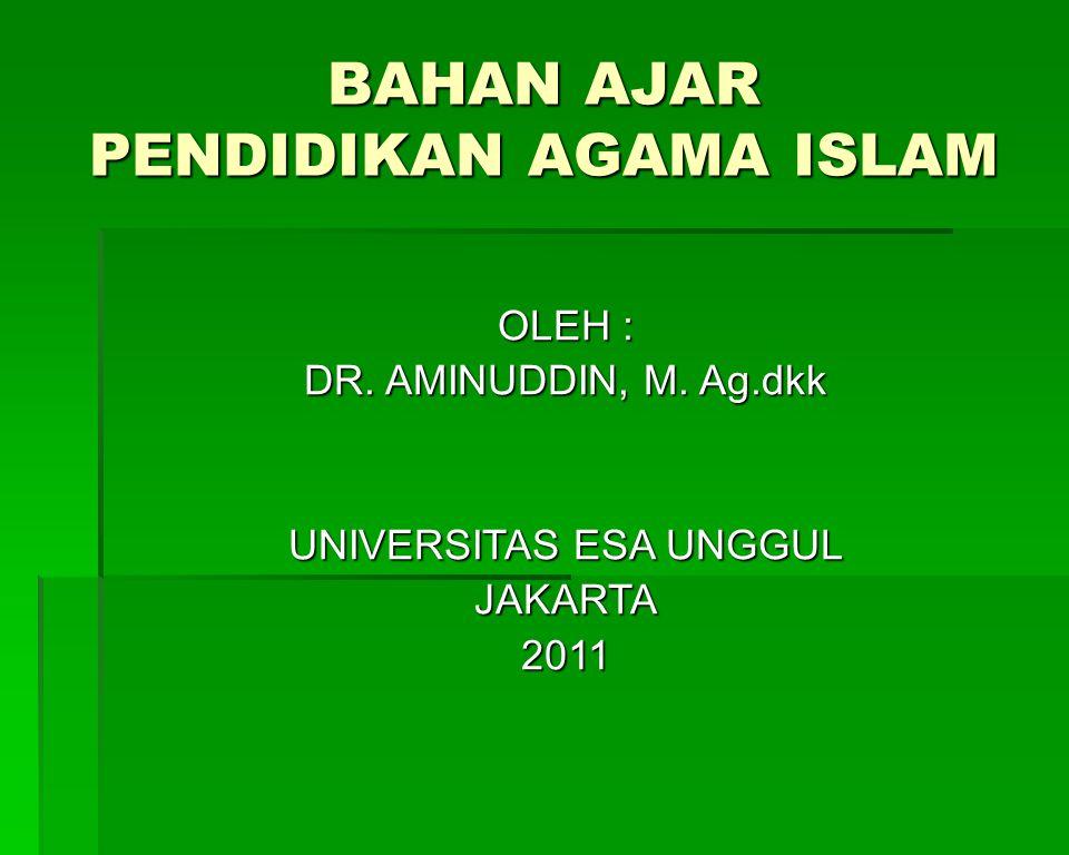 BAHAN AJAR PENDIDIKAN AGAMA ISLAM