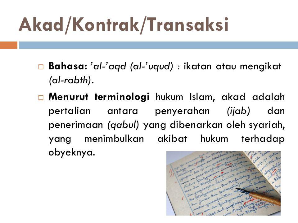 Akad/Kontrak/Transaksi