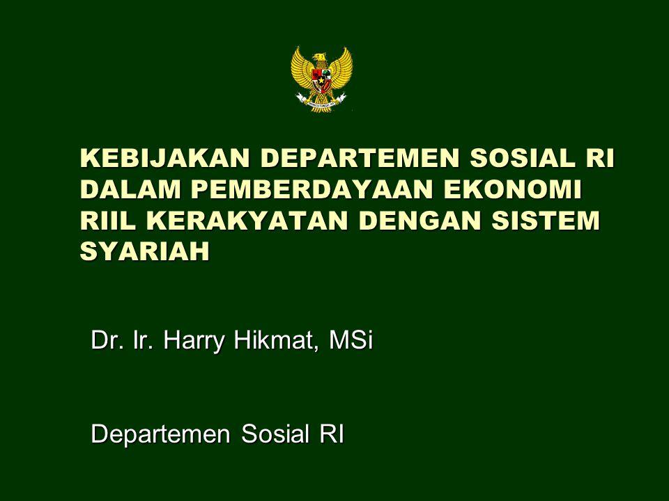 Dr. Ir. Harry Hikmat, MSi Departemen Sosial RI