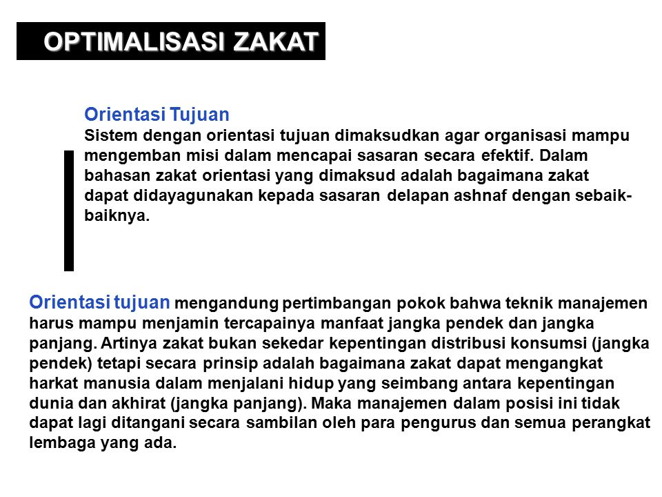 OPTIMALISASI ZAKAT