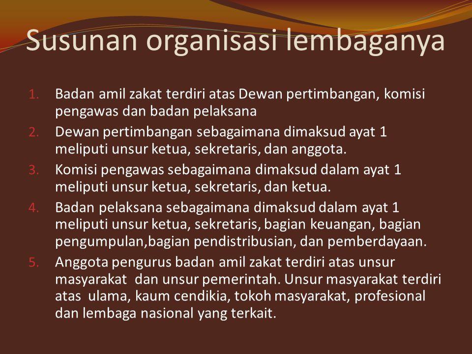 Susunan organisasi lembaganya
