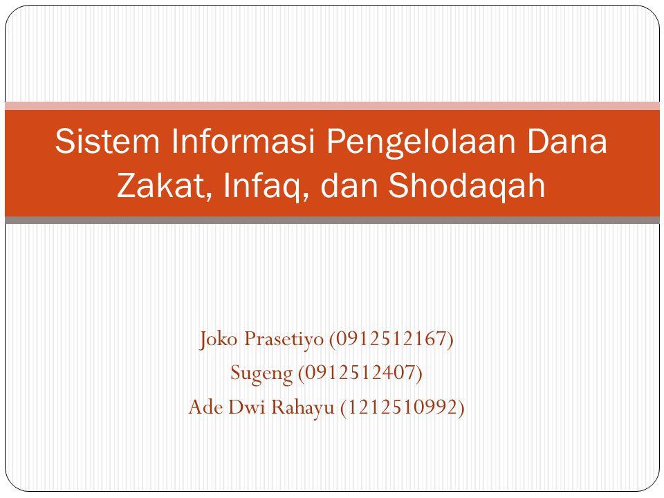 Sistem Informasi Pengelolaan Dana Zakat, Infaq, dan Shodaqah
