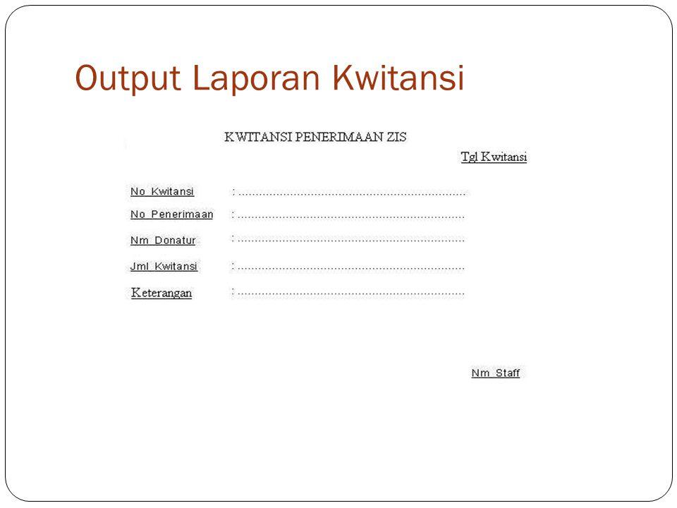 Output Laporan Kwitansi