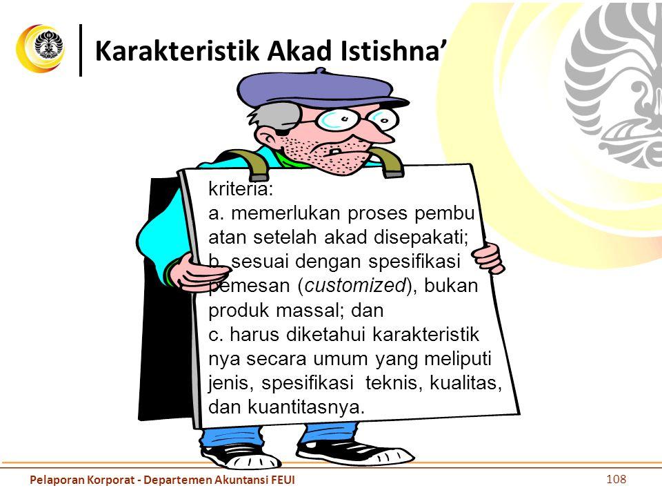 Karakteristik Akad Istishna'