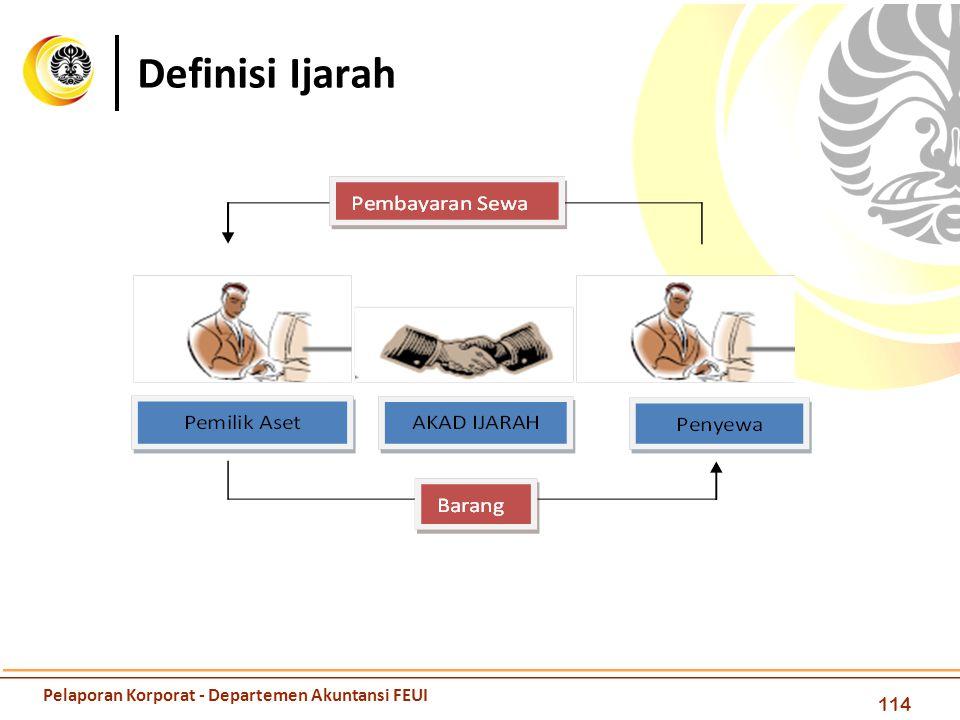 Definisi Ijarah Pelaporan Korporat - Departemen Akuntansi FEUI