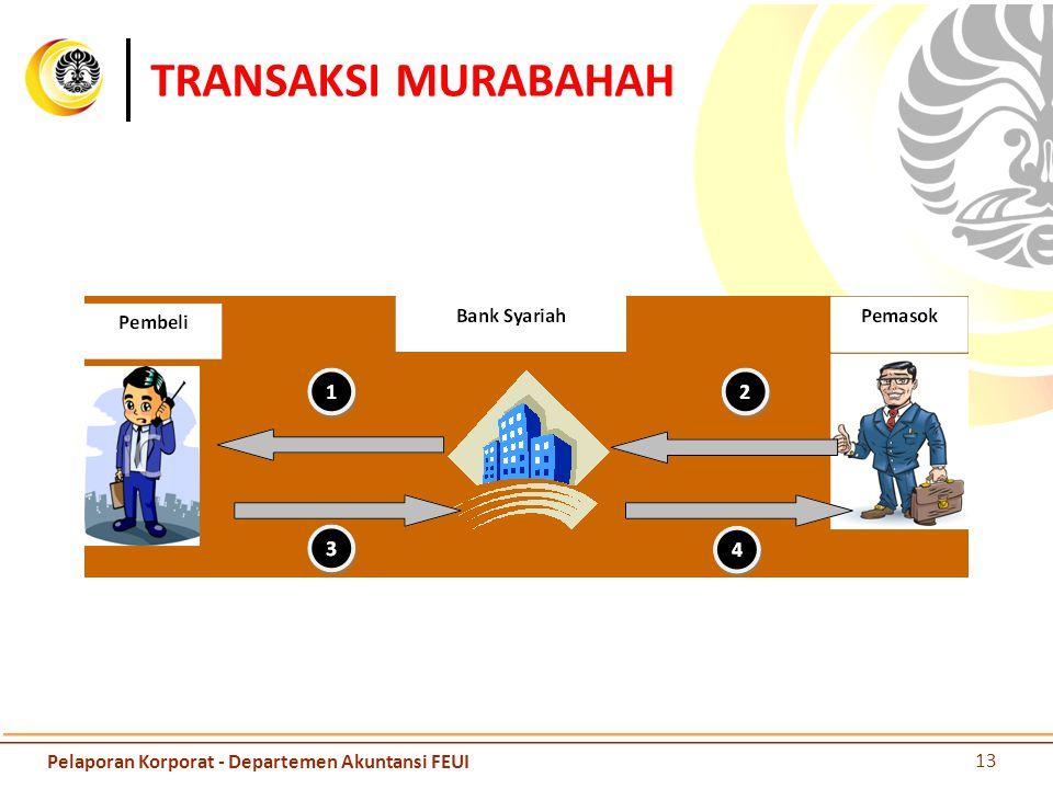 TRANSAKSI MURABAHAH Pelaporan Korporat - Departemen Akuntansi FEUI