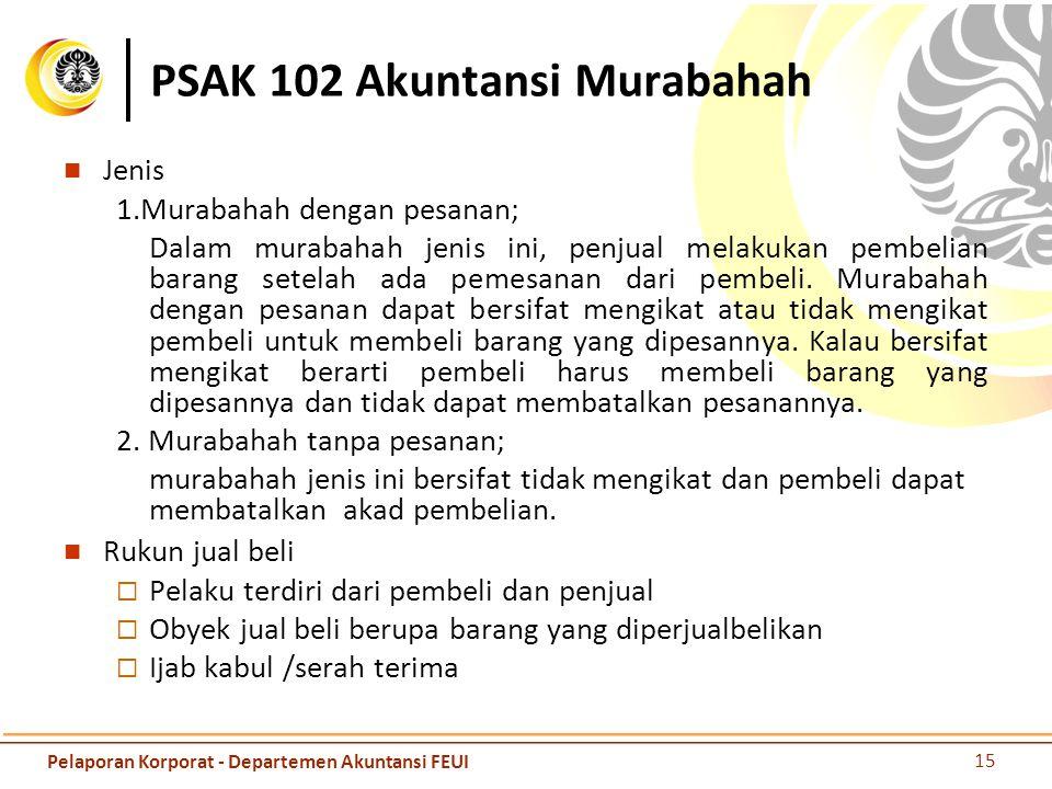 PSAK 102 Akuntansi Murabahah