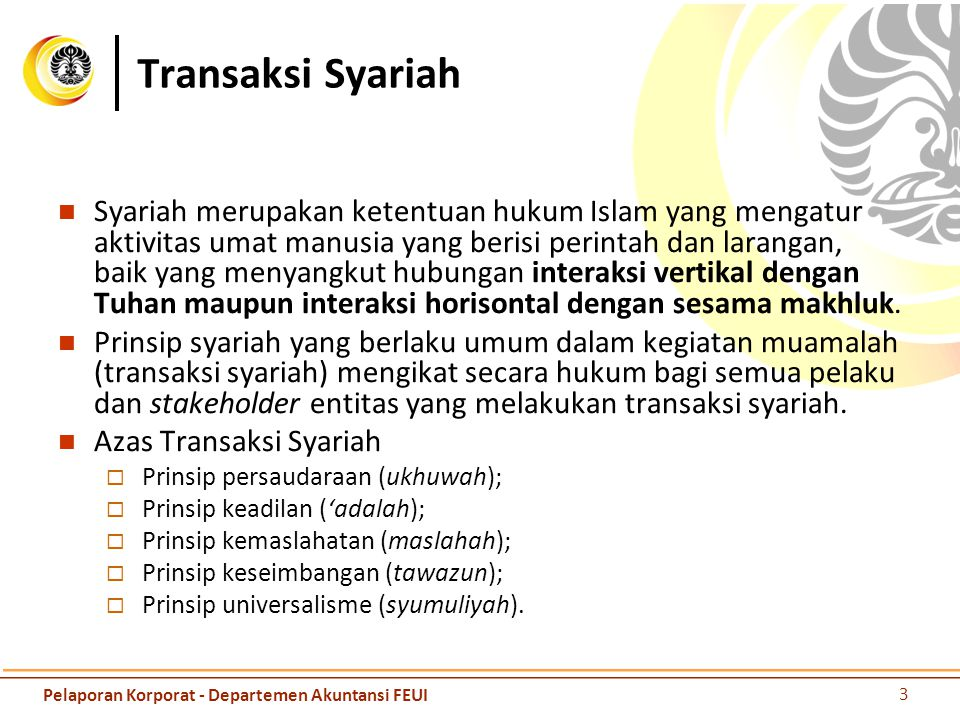 Transaksi Syariah